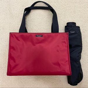 Kate Spade Red Abigail Diaper Bag with Change Mat